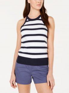Maison Jules Women Size XS Navy Halter Top