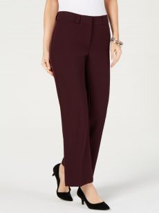 Alfani Women Size 4S Wine Trousers Pants