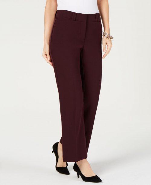 Alfani Women Size 4S Wine Trousers Pants