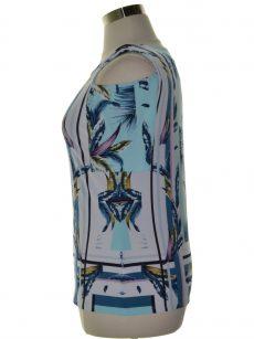 JM Collection Petites Size PXL Blue Pullover Top