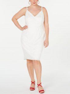 Emerald Sundae Plus Size 1X Off White Sheath Dress