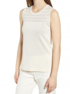 Anne Klein Women Size Large L Ivory Tank Top