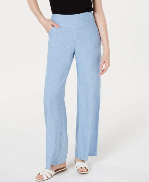 INC Women Size 6 Blue Wide Leg Pants