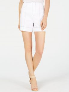 INC Women Size 14 White Casual Shorts Pants