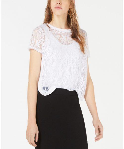 Bar III Women Size Medium M White Pullover Top