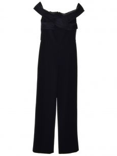Ralph Lauren Women Size 2 Navy Jumpuit Jumpsuit