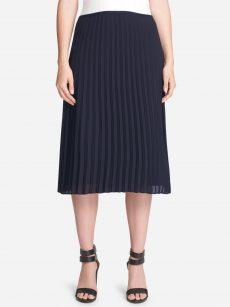 DKNY Women Size 16 Blue Pleated Skirt
