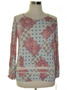 Style & Co. Women Size Medium M Multi Pullover Top