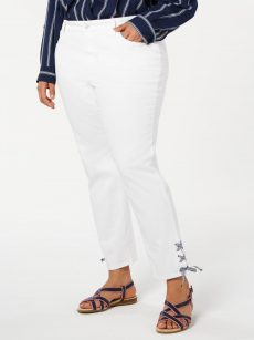 Charter Club Plus Size 22W White Ankle Pants