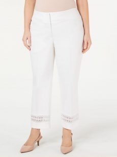 Alfani Plus Size 20W White Ankle Pants