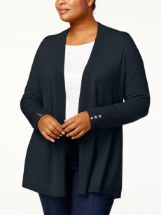 Charter Club Plus Size 0X Navy Blue Cardigan Sweater