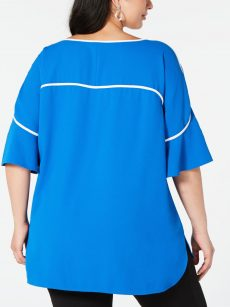 Alfani Plus Size 0X Royal Blue Blouse Top