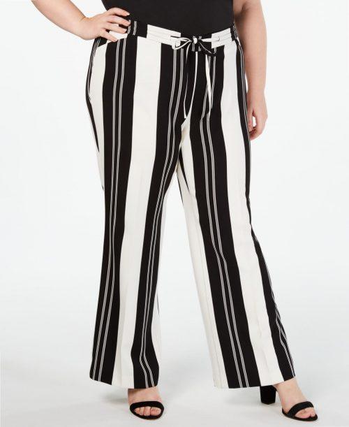 INC Plus Size 0X Black Wide Leg Pants