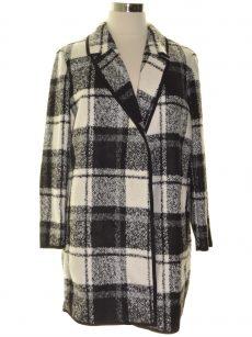 Calvin Klein Plus Size 1X Black White Coat Jacket