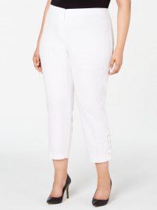 Alfani Plus Size 14W White Ankle Pants