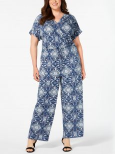 Style & Co. Plus Size 2X Blue Wide Leg Jumpsuit