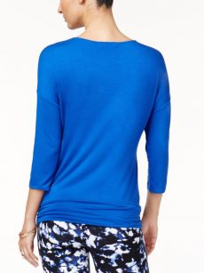 Thalia Sodi Women Size XS Royal Blue Pullover Top