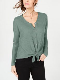 Style & Co. Petites Size PM Off Green Pullover Top