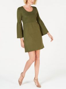 NY Collection Petites Size PS Green Sweaterdress Dress