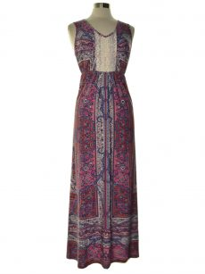 Style & Co. Women Size Small S Multi Maxi Dress