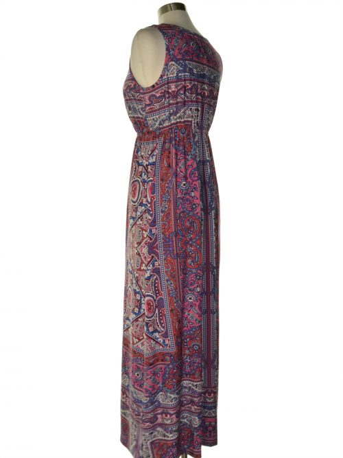 Style & Co. Women Size Small S Multi Maxi Dress