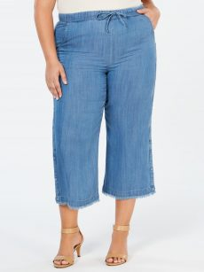 Style & Co. Plus Size 20W Blue Cropped Pants
