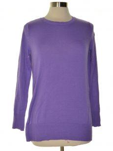 Maison Jules Women Size Small S Purple Pullover Sweater