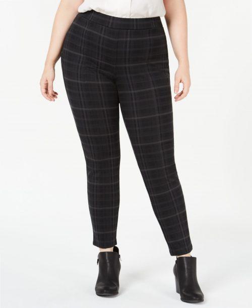 Style & Co. Plus Size 24W Black Gray Leggings Pants