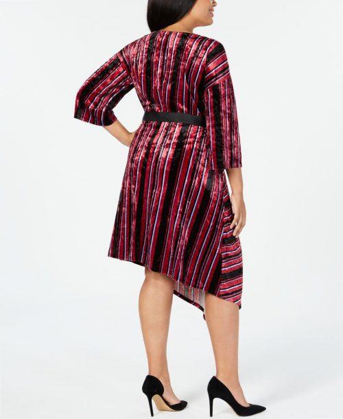 NY Collection Plus Size 2XP Multi Wrap Dress