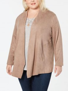 Style & Co. Plus Size 3X Taupe Jacket
