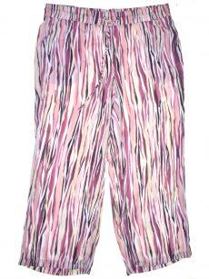 JM Collection Plus Size 1X Multi Pink Straight-Leg Pants