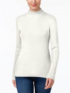 Karen Scott Petites Size PL Ivory Raglan Sweater