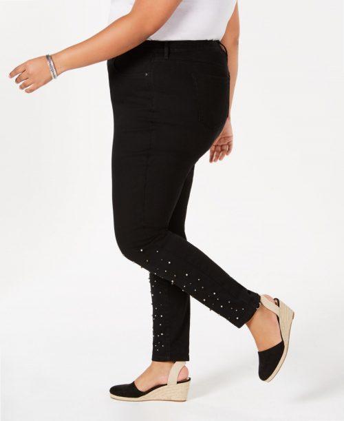 Style & Co. Plus Size 20W Black Skinny-Leg Jeans