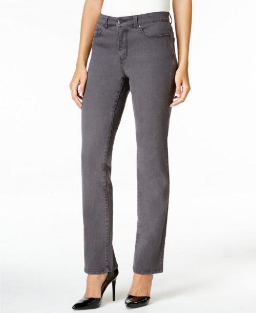 Charter Club Women Size 4 Gray Straight Leg Jeans