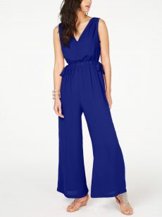 Thalia Sodi Women Size XXL Royal Blue Wide Leg Jumpsuit