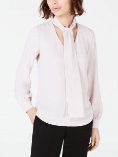 Bar III Women Size Medium M Light Pink Blouse Top