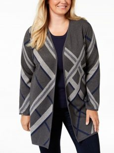 Charter Club Plus Size 0X Dark Gray Cardigan Sweater