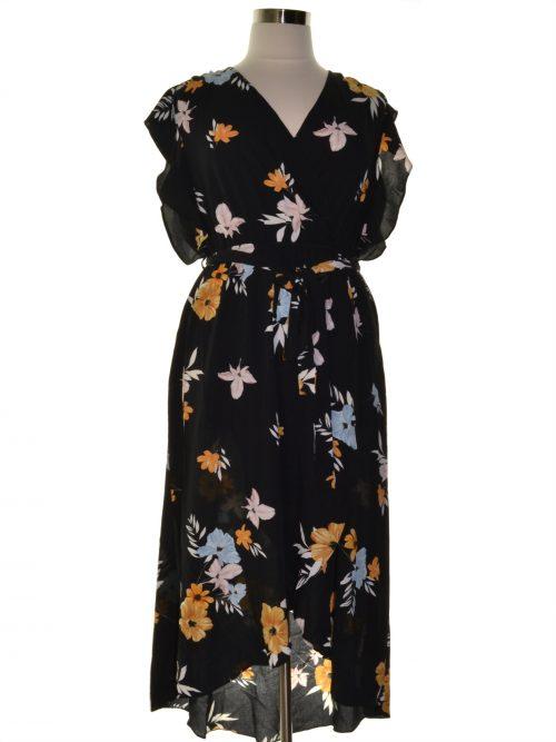 City Chic Plus Size 16W Black Maxi Dress