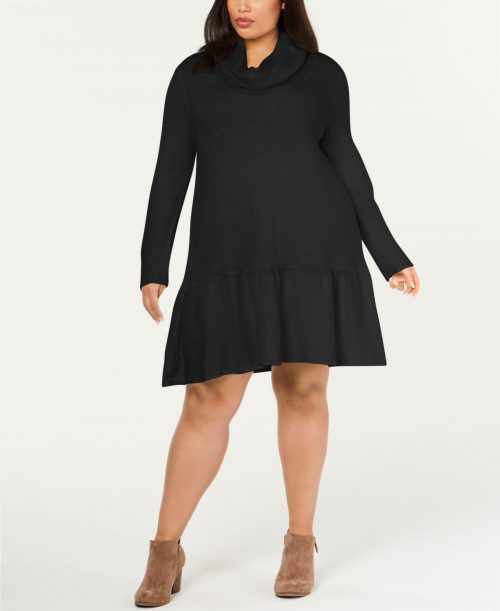 NY Collection Plus Size 2X Black Sweaterdress Dress