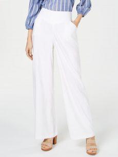INC Women Size 6 White Wide Leg Pants
