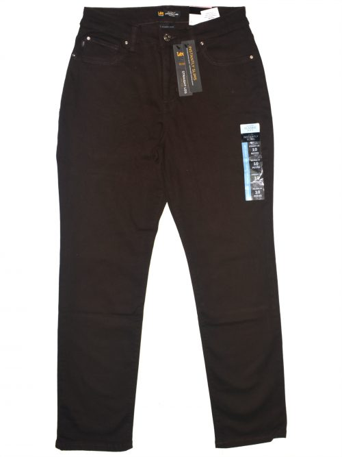 Lee Platinum Label Petites Size 14P Brown Straight Leg Jeans