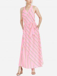 Rachel Roy Women Size Medium M Neon Pink Maxi Dress